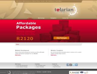 telarian.co.za screenshot