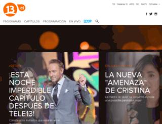 tele13.canal13.cl screenshot