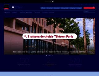 telecom-paristech.fr screenshot