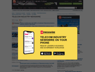 telecomindustry.einnews.com screenshot
