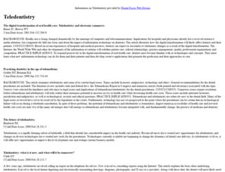 teledentistry.co.uk screenshot