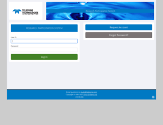 teledyne.sona-systems.com screenshot