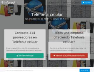 telefonia-celular.infored.com.mx screenshot