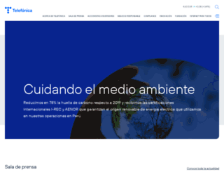 telefonica.com.pe screenshot
