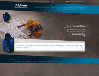 telefonica.com.sv screenshot