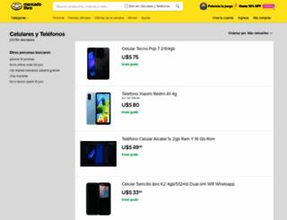 telefonos.mercadolibre.com.ve screenshot