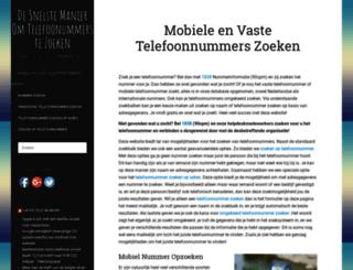 telefoonnummer-zoeken.nl screenshot
