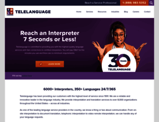 telelanguage.com screenshot