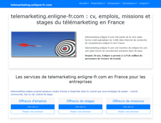 telemarketing.enligne-fr.com screenshot