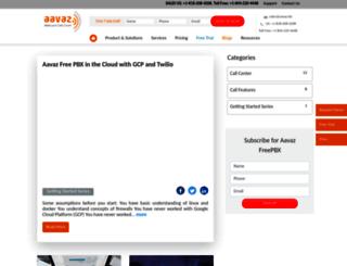 telemarketingresources.aavaz.biz screenshot