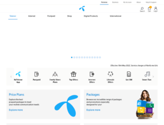 telenor.com.pk screenshot