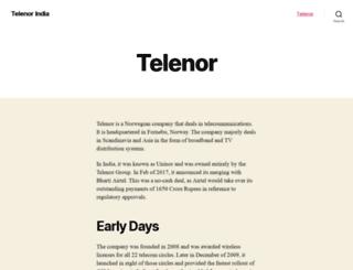 telenor.in screenshot