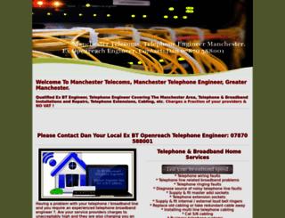 telephoneengineersmanchester.co.uk screenshot