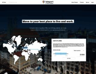 teleport.org screenshot