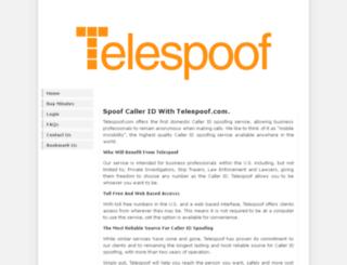 telespoof.com screenshot