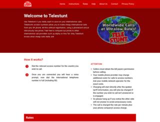 telestunt.co.uk screenshot