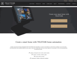 teletask.eu screenshot