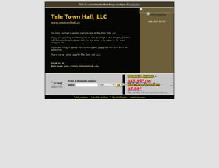 teletownhall.us screenshot