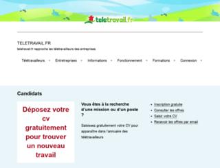 teletravail.fr screenshot