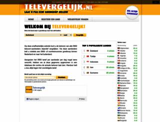 televergelijk.nl screenshot