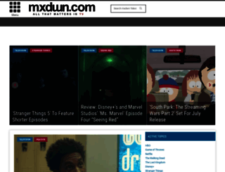 television.mxdwn.com screenshot