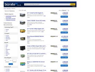 televisions.bizrate.co.uk screenshot