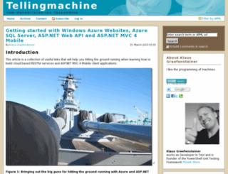 tellingmachine.com screenshot
