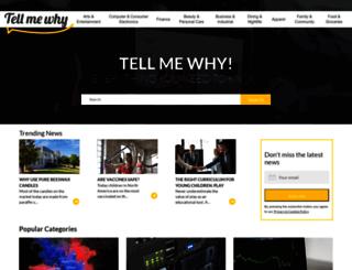 tellmewhy.com screenshot