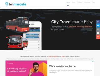 tellmyroute.com screenshot