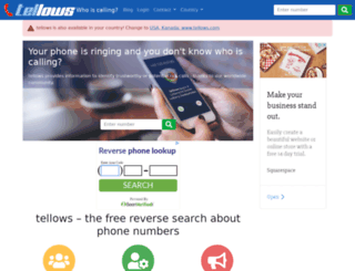 tellows.co.uk screenshot