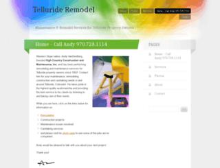 tellurideremodel.wordpress.com screenshot