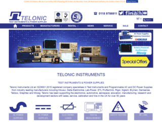 telonic.co.uk screenshot