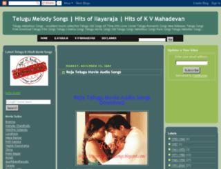telugu-melodioussongs.blogspot.com screenshot