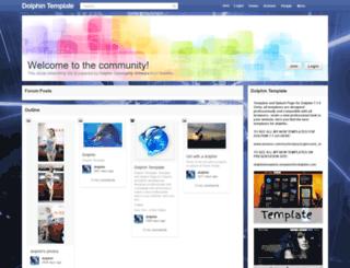 templatefordolphin.com screenshot