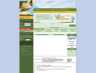 templategarden.net screenshot