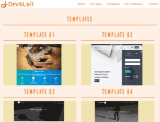 templates.devs-lair.com screenshot