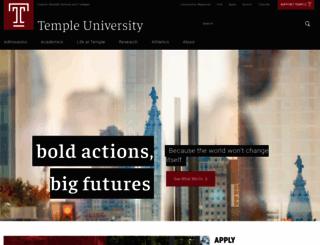 temple.edu screenshot
