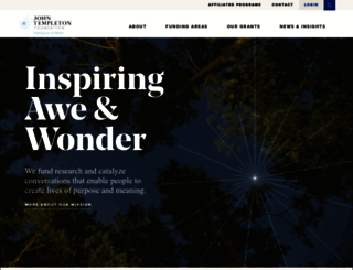 templeton.org screenshot