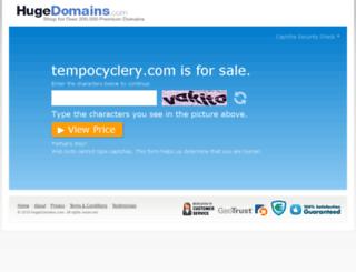 tempocyclery.com screenshot