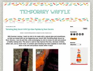 temporarywaffle.blogspot.com screenshot