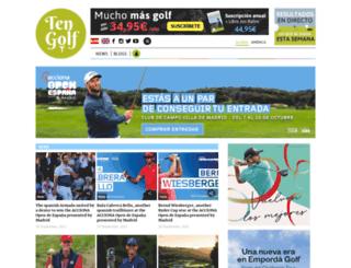 ten-golf.es screenshot