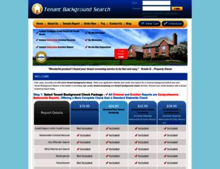 tenantbackgroundsearch.com screenshot