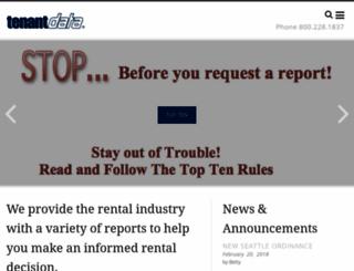 tenantdata.com screenshot