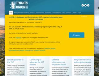 tenantsact.org.au screenshot