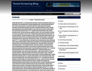 tenantscreeningblog.com screenshot