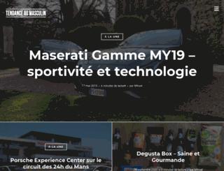 tendanceaumasculin.fr screenshot