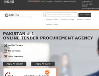 tenderbook.pk screenshot