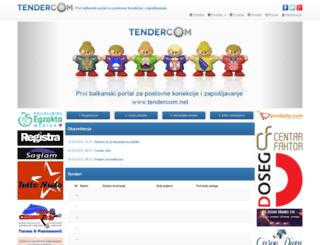 tendercom.net screenshot