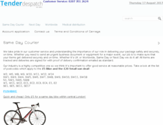 tenderdespatch.com screenshot