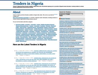 tenders.nigeriang.com screenshot